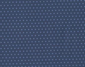 RJR Splash 2222 01 Blue Circles & Dots By The Yard