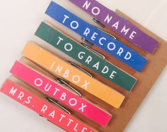 Personalized Clothespins for Teachers