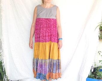 Dress - Copa Cobana -  Slip on Summer Dress Pure Silk - made by Resplendent rags
