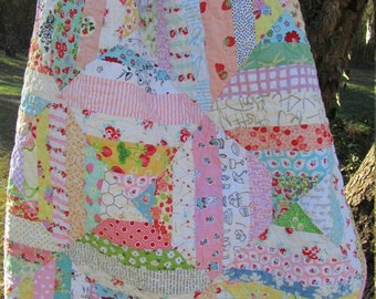 Scrappy Pastel String Quilt - Baby Girl, Toddler, Crib
