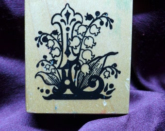 L for Lilly of the Valley / Lilly / Botanical / Vintage / PSX Rubber Stamp