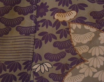 Vintage kimono S53, older, maple leaves