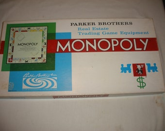 Vintage Monopoly Board Game 1961 100% Complete (Court)