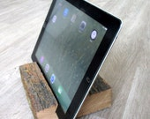 iPad Stand of Rustic Antique Oak Repurposed from a Cattle Corral
