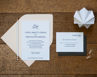 WILLOW invitation suite sample