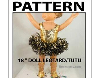 18 in Leotard Tutu Dance Costume Pattern