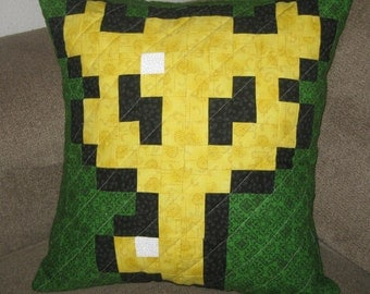 Boss Key Quilted Pillow Cover - Free USA shipping!