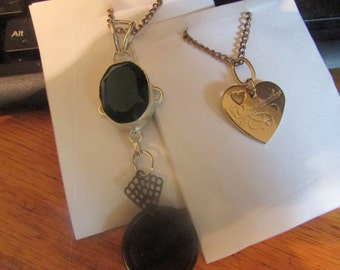 blue pendent with heart
