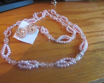 pink woven pearls