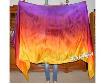 "Sahariah's Silk Belly Dance Veil Rectangle original ""Killer Silk"" 3 Yard Rectangle Veil"