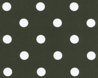 Polka Dots Black White fabric | Home Dec Cotton Twill fabric | Premier Prints