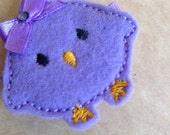 Boutique Embroidered Felt Easter Baby Chick Hair Clippie (Item 16-022)