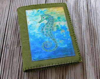 SALE seahorse journal -  beach vacation journal- gifts for mom, dad, graduation, birthday celebration