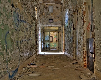 Collection of 3 Fine Art Photographs on Canvas or Print: Abandoned Mental Hospital 2