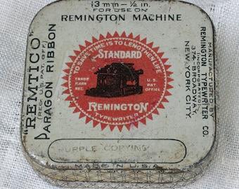 Vintage Standard Remington Typewriter Company Square Ribbon Tin