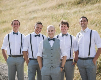 Mismatched Groomsmen Bow Ties - Groomsmen Bowties - Custom Wedding Bow Ties - Groomsmen Bowties - Made to Order - Custom Bow Ties
