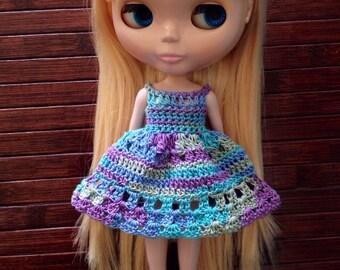 Neo Blythe Crochet Dress - Ocean