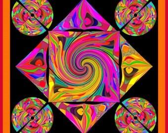 Untersetzer, Mandala-Design, Tischschmuck, Dekoration