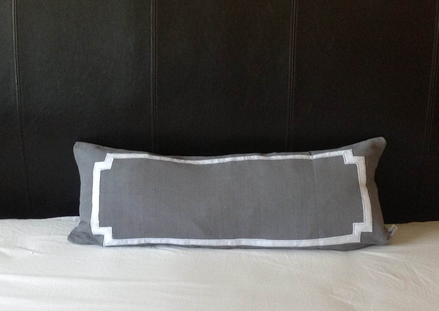 Long Lumbar Gray Pillows Body Pillows Rectangle Pillows for
