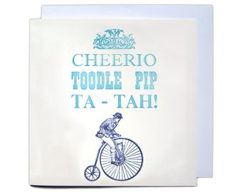 Letterpress Typeset Greetings Card - Cheerio