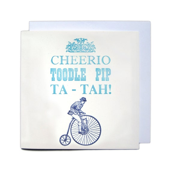 Letterpress Typeset Greetings Card - Cheerio