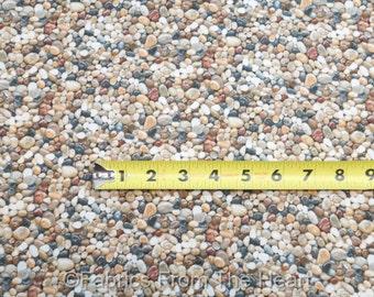 Beach River Rocks Stones Pebbles Landscape Medley BY YARDS Elizabeth's Fabric