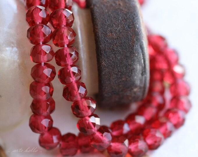 JUICE POPS .. 30 Premium Czech Rondelle Glass Beads 3x5mm (5296-st)