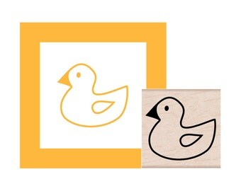 Rubber Duckie Rubber Stamp