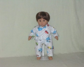 American Girl Bitty Baby Twin Boy Doll Pajamas More Little Cars