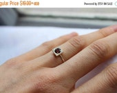 ON SALE this week Garnet Ring in Sterling Silver, One Little Stacking ring,Custom Ring, Birthstone Ring, January  birthstone, Personalized b