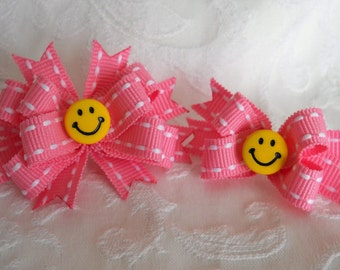 Dog Bows- Happy Face Boutique or Mini Boutique Dog Bow