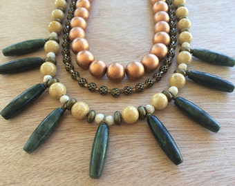 N300 Tribal Inspired Statement Necklace