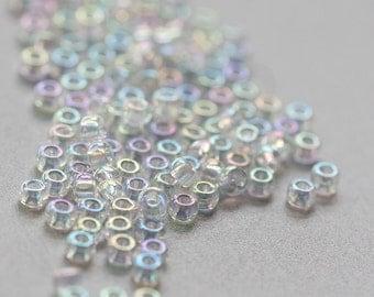 20 Grams Japanese Miyuki 11/0 Seed Beads - Crystal AB - 2mm (11-0250)