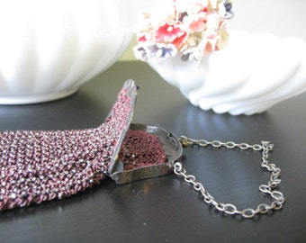 Antique Red Beaded Coin Purse