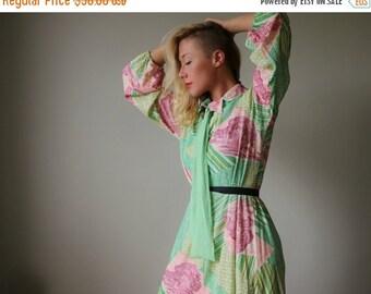 ON SALE 1960s Lurex Chevron Forest Dress~Size Medium to Large