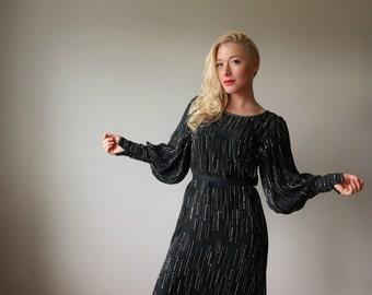 1990s Argenti Silk Dress~Size Extra Small