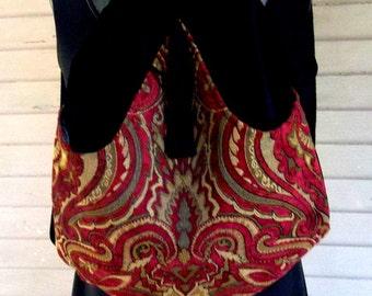 Classy Velvet Backpack Renaissance Backpack boho backpack boho slingbag black velvet bag backpacks boho cinch bag tapestry
