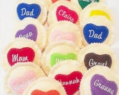 SALE Personalized heart cookie - Choose your icing color - Personalized cookie - Pretend Play Cookies - quantity discount