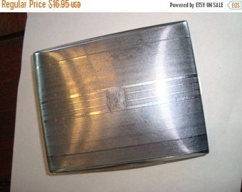 On Sale Today Chrome Cigarette Case Vintage Metal