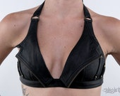 night rider leather bra top