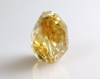 Citrine Nugget Bead - Faceted Focal - Citrine Beads - 24mm