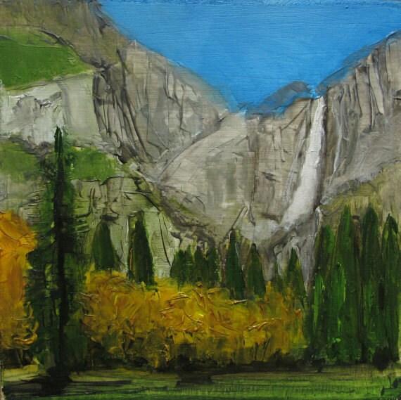 Paintings Of Yosemite National Park: YOSEMITE NATIONAL PARK Abstract Landscape Abstract Giclee
