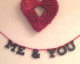 Bunting - Lace 'Me & You' Bunting