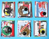 Packet Collage Kit / print collection / paper stock (1 tiny set of scrapbooking materials)