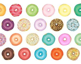 Donut Have a Care in the World Print Postcard - Single (1) Postcard for Donut Lovers