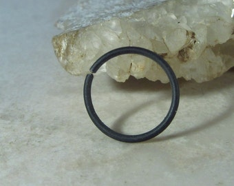 Black Nose Ring Niobium - Nose Ring, Black Nose Hoop, Hypoallergenic Nose Ring, 24 Gauge Nose Ring. 22 Gauge Nose Ring, 20 Gauge Nose Ring