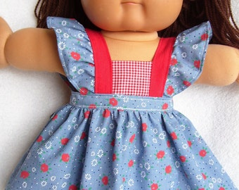 Cabbage Patch Doll Clothes,Pinafore Set,fits 16inch to 18inch baby dolls,Build-a-Bear