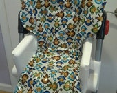 Laminated Vinyl like Padded Replacement High Chair cover -  Universal Size  Fits many brands - Baby Trend Graco Perego Chicco