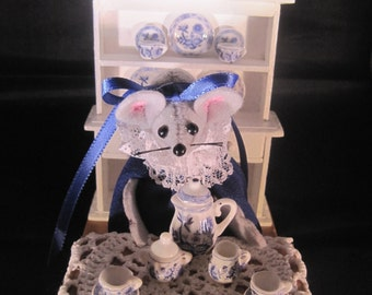 Mouse with a Tea Set and a Hutch