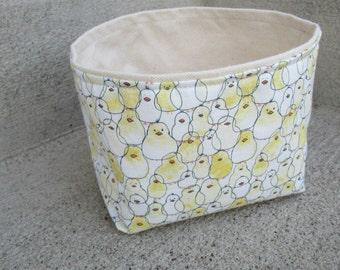 fabric storage bin mini bucket kids room nursery baby